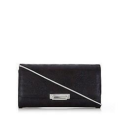 Wallis - Black metallic clutch
