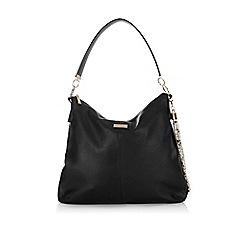 Wallis - Black snake handle slouch bag