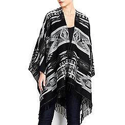 Wallis - Grey aztec print wrap