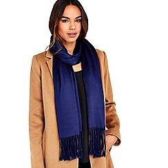 Wallis - Navy pashmina scarf