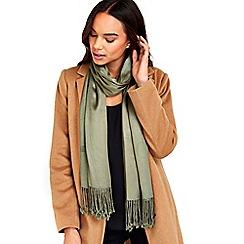 Wallis - Khaki pashmina scarf