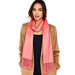 Wallis - Coral pashmina scarf