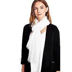 Wallis - Ivory woven scarf
