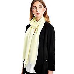 Wallis - Lemon woven scarf
