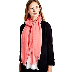 Wallis - Coral woven scarf