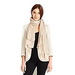 Wallis - Stone geometric print scarf