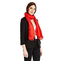 Wallis - Red geometric print scarf