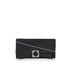 Wallis - Black turnlock clutch bag