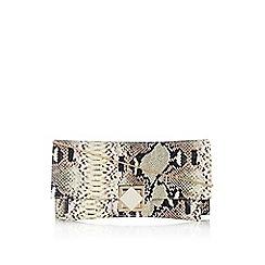 Wallis - Snake effect turnlock clutch bag