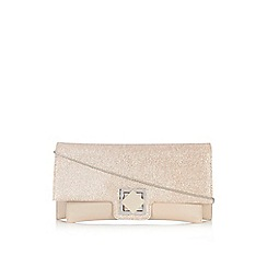 Wallis - Cream turnlock clutch bag