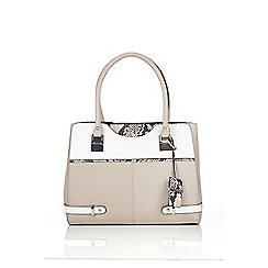 Wallis - Grey snake effect tote bag