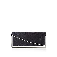 Wallis - Black glitter box clutch