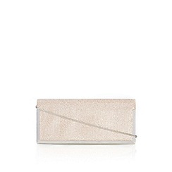 Wallis - Oyster glitter box clutch