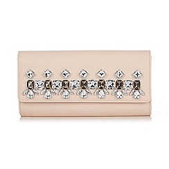 Wallis - Nude jewelled clutch bag