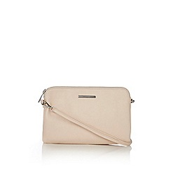Wallis - Cream zip top crossbody bag