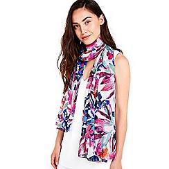 Wallis - Tropical floral printed scarf