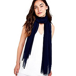 Wallis - Navy weave scarf