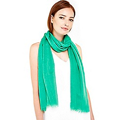 Wallis - Green weave scarf