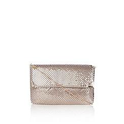 Wallis - Nude chain clutch bag