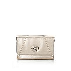 Wallis - Metallic gold clutch bag