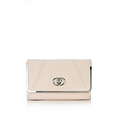 Wallis - Nude clutch bag