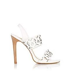 Wallis - White leather double band cut sandal