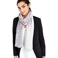 Wallis - Rose floral jacquard scarf
