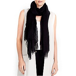 Wallis - Black ladder weave scarf