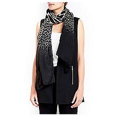 Wallis - Monochrome animal print scarf
