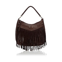 Wallis - Tan tassel suedette hobo bag