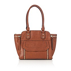 Wallis - Camel zip wing tote bag