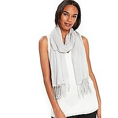 Wallis - Grey metallic ladder scarf