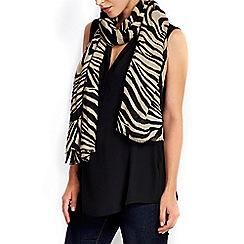 Wallis - Stone zebra woven scarf