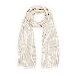 Wallis - Gold woven scarf