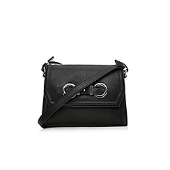Wallis - Black eyelet crossbody bag