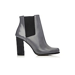 Wallis - Grey leather ankle boot