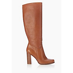 Wallis - Tan leather high leg boot