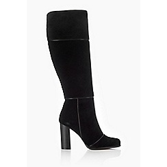Wallis - Black suede high leg boots