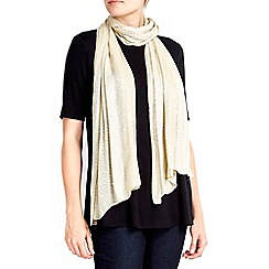 Wallis - Gold sequin stripe scarf