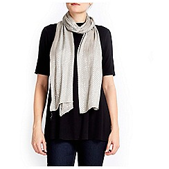 Wallis - Pewter sequin stripe scarf