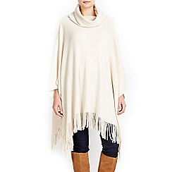 Wallis - Cream soft rib poncho