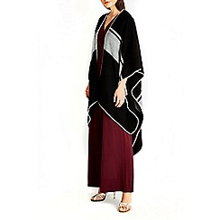 Wallis - Monochrome colour block wrap
