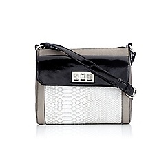 Wallis - Black twist lock cross body