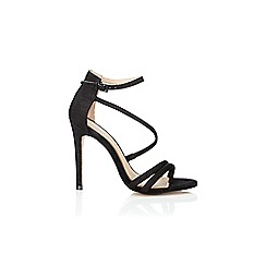 Wallis - Black asymmetric sandals