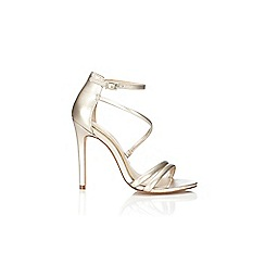 Wallis - Gold asymmetric sandals