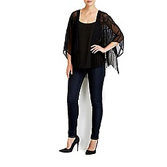 Wallis - Black embroidered cover up