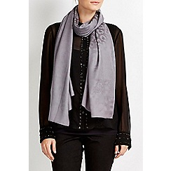 Wallis - Silver animal jacquard scarf