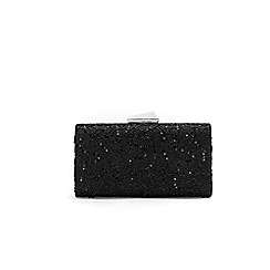 Wallis - Black sequin ava lace clutch