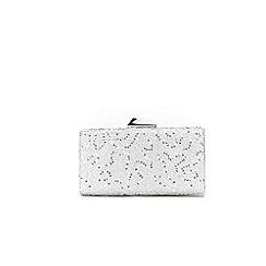 Wallis - Silver sequin ava lace clutch