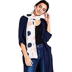 Wallis - Ivory foil spot scarf